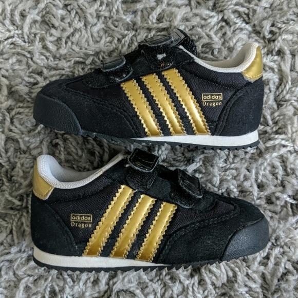 Infant Adidas Dragon Metallic Gold Shoes
